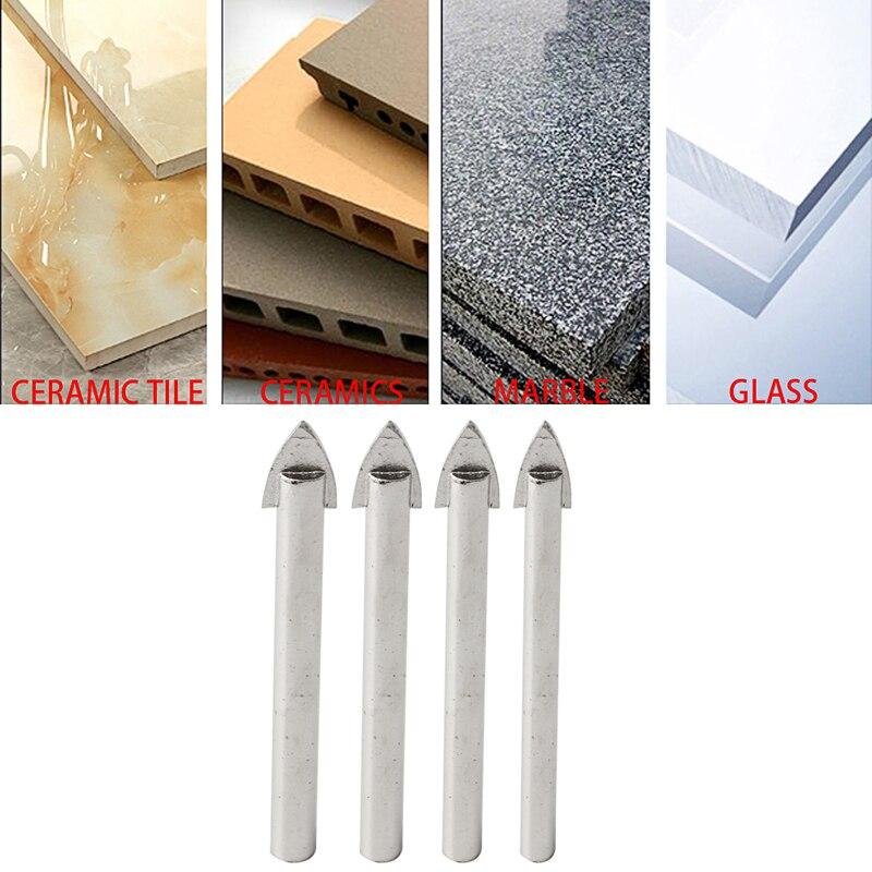 4 Pcs Marble Glass Spear Head Cretive Drill Bits Ceramic Tile Tool 6