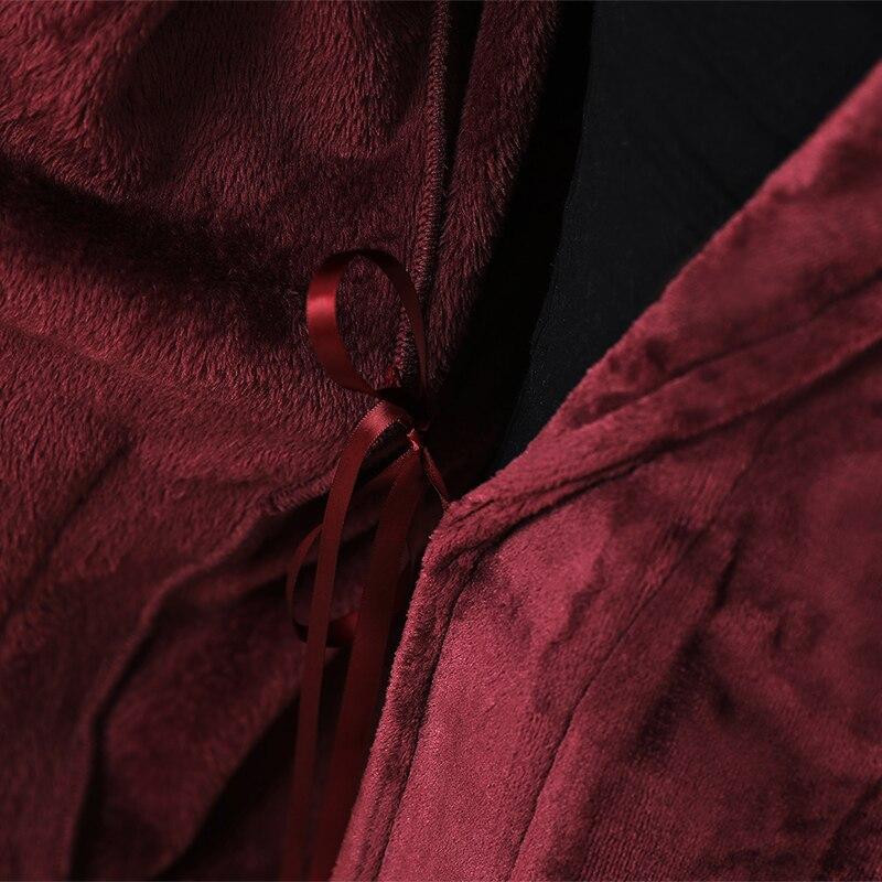 Femmes hommes hiver à capuche Extra Long chaud peignoir de luxe épais flanelle Robe de bain grande taille doux thermique Robe de chambre Sexy Robes - 5