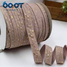 OOOT BAORJCT,1762845, 5/8» 16MM Bronzing elasticity Ribbon, 10 yards DIY handmade hair accessories Material, free shipping