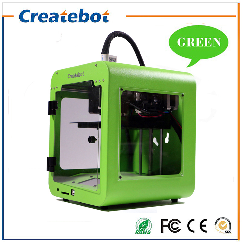 Createbot Super Mini Light Weight Metal Frame 3D Printer Kits Single Extruder Touch Screen Not DIY With 85*80*94mm Build Size high precision createbot super mini 3d printer no assembly required metal frame impresora 3d 1roll filament 1gb sd card gift