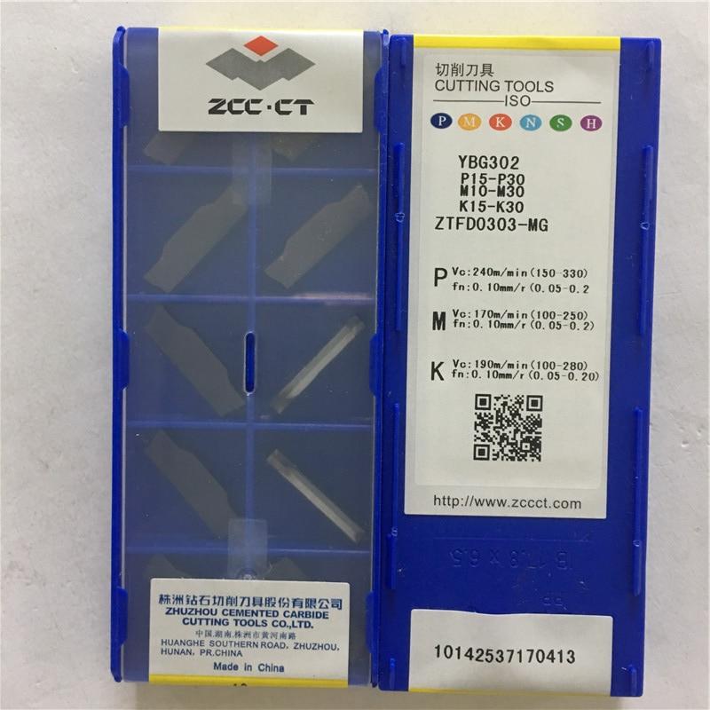 ZTFD0303 MG YBG302 Original ZCC carbide insert 10pcs lot free shipping