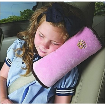 High Quality Children Car Soft Headrest Baby Vehicle Safety Seat Belt Pillows Strap Soft Shoulder Pad Cushion Neck Seatbelt image