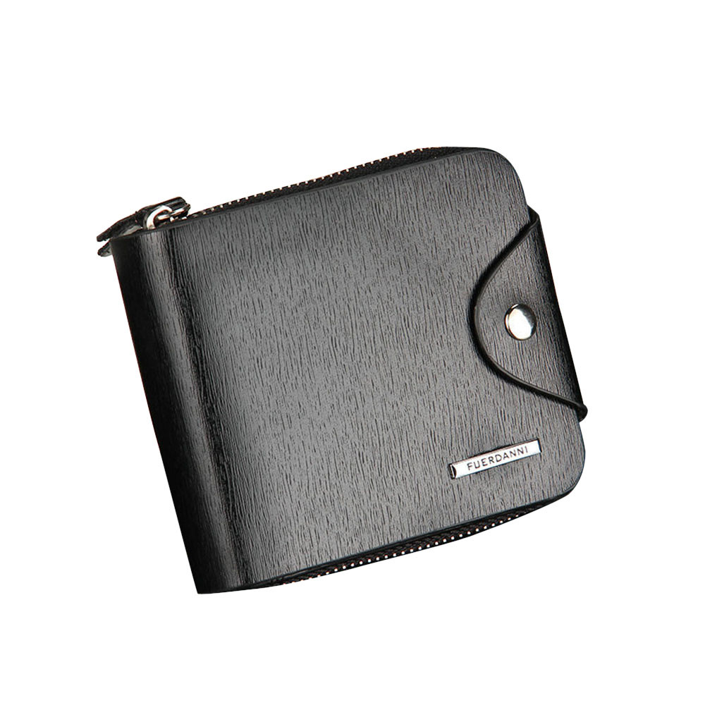 цена  New Fashion Wallet Mens Artificial Leather ID Card Holder Billfold Zip Hasp Purse Wallet Handbag Clutch Black Casual Carteira  онлайн в 2017 году