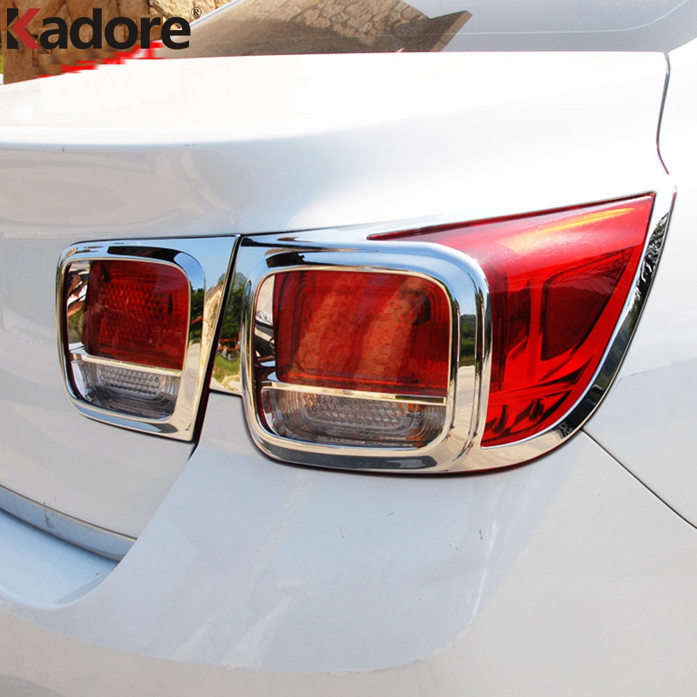 For Chevrolet Malibu 2013 2014 2015 8TH GE ABS Chrome Rear Tail Light Lamp Cover Trim Taillight Frame Stickers Car Accessories car auto accessories rear trunk trim tail door trim for subaru xv 2009 2010 2011 2012 2013 2014 abs chrome 1pc per set