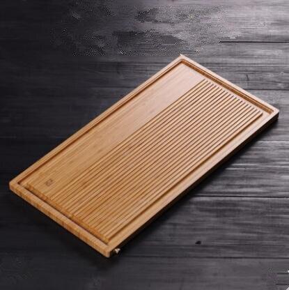 Simple bambou plateau de thé, bambou drainage rectangulaire thé ensemble, thé plateau