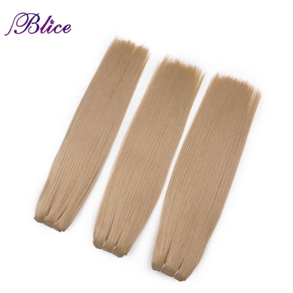 Blice sintético extensiones de cabello 3 unids/lote 16 pulgadas #16 Yaki pelo recto que teje longitud 100 g/unid todos los colores disponible