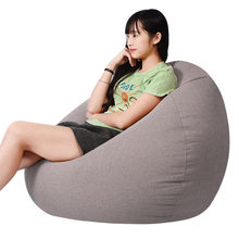 Living Room Lounger Bean Bags Sofas Chair Adults Kids Bean Bag Chair Sofas Bedroom Lazy Sofas Living Room Soft Bean Bags S/M/L(China)