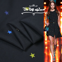 Colorful Star Dance Twisted Texture Fashion Craftsman Cotton Fabric Dropping and Breathing Comfort+Dropping