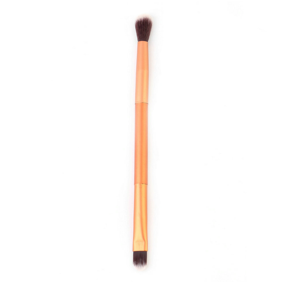 Doubled-end Eye Shadow Makeup Brush Super Soft Synthetic Hair Eyeshadow Eye Brow Makeup Cosmetic Brush Tool Rose Gold Kit