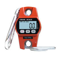 300kg Mini Handle Digital Scale Industrial Crane Scale Portable LCD Electronic Scale Heavy Duty Hanging Weighting Hook Scale