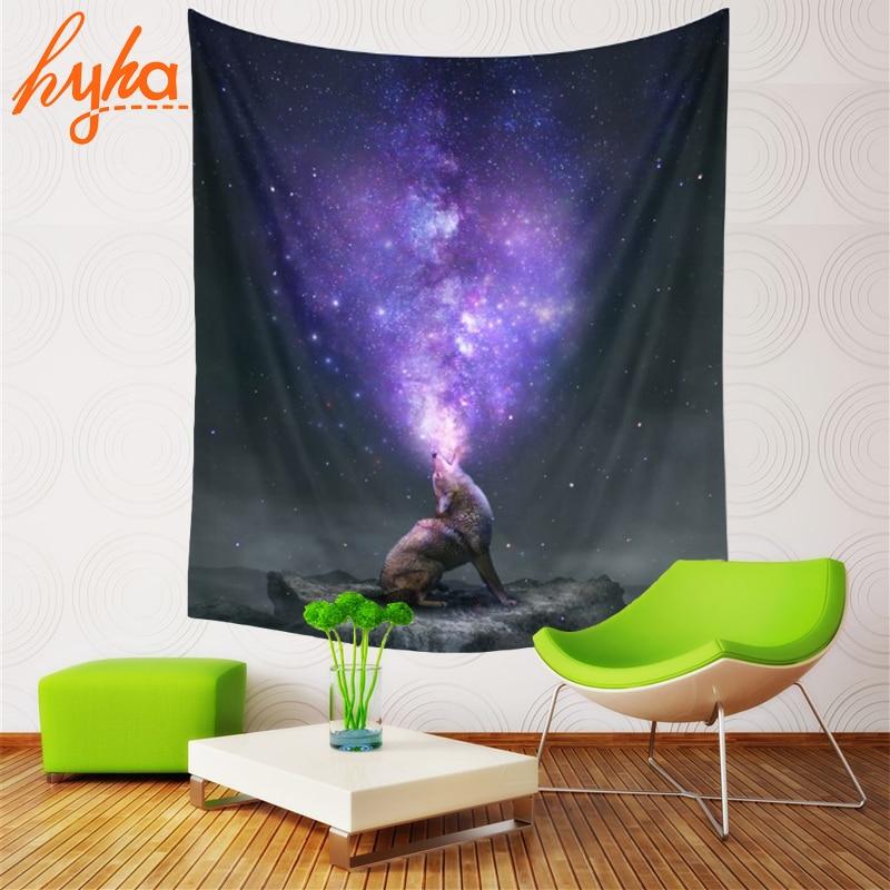 Hyha Triple Moon Goddess Tapestry Space Mjölk Way Dreamlike Planet - Hemtextil - Foto 4