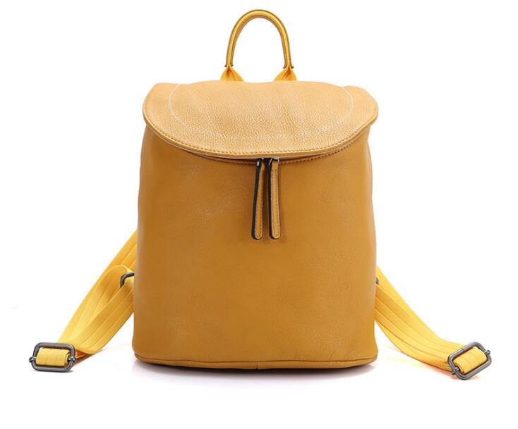 Autumn winter women genuine leather soft cow skin fashion backpack