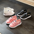 New summer children's hollow shoes Boys and girls breathable leather shoes Kids party sneakers