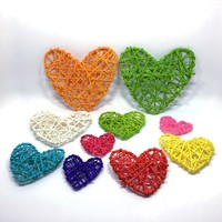 2019 5pcs 13/10/7cm Heart Sepak Takraw Colorful Rattan Ball Easter Valentines Day Decor DIY Wedding Party Home Decor Supplies