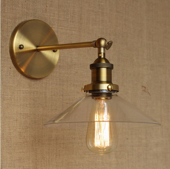 Retro Loft Edison Wall Sconce Glass Vintage Wall Light Fixtures Industrial Wall Lamp For Home Lighting Lampe Murale подставки кухонные agness подставка под кухонные приборы с любовью