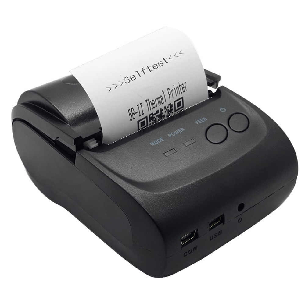 VOXLINK Portable POS Printer 58mm Bluetooth Thermal Receipt Printer for Windows Andriod Mobile Phone