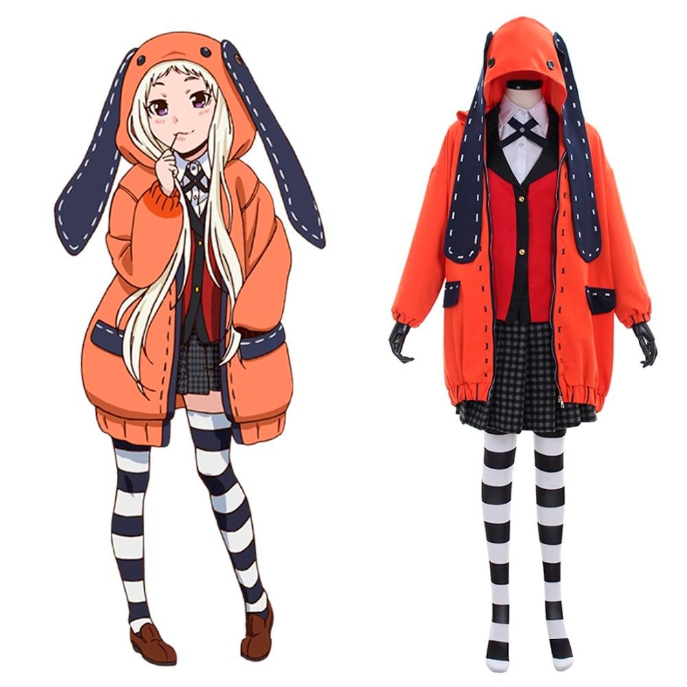 Hot Anime Kakegurui Cosplay Costume Cute Rabbit Halloween ...
