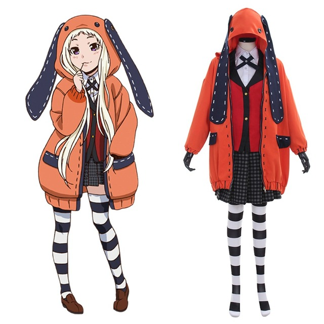Hot Anime Kakegurui Cosplay Costume Cute Rabbit Halloween for Women Uniforms Yomozuki Runa Costume Outfits Full Set