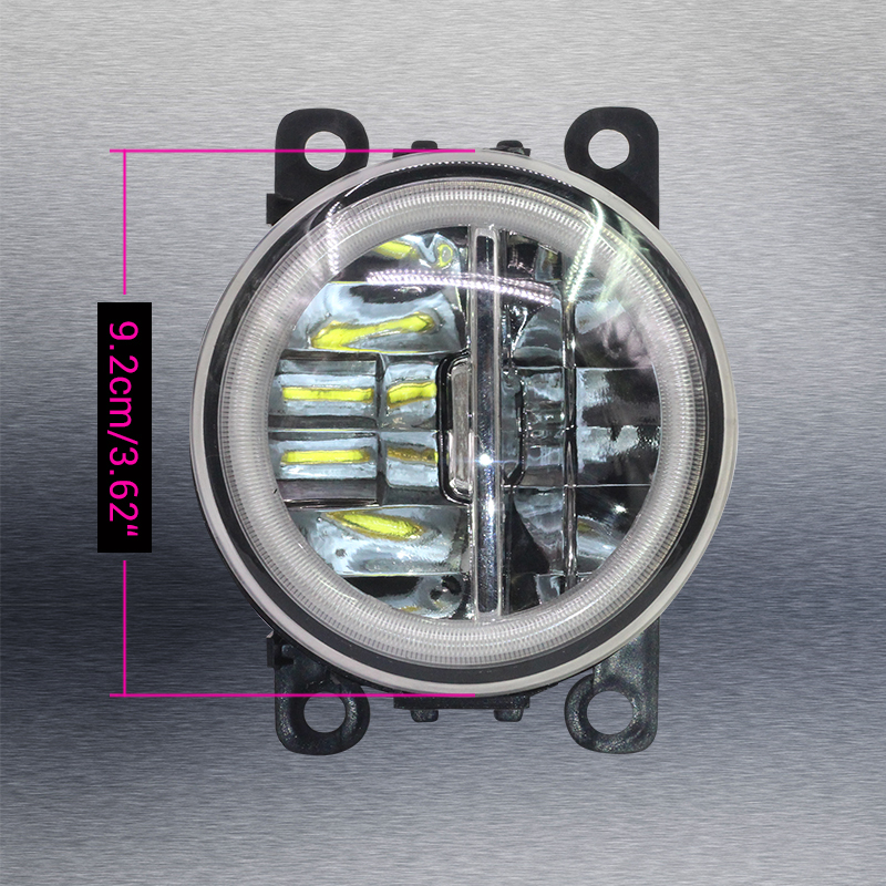 Image 5 - Cawanerl For Ford Focus MK2 MK3 2004 2015 Car LED Bulb 4000LM Front Fog Light + Angel Eye Daytime Running Light DRL 12V 2 Pieces-in Car Light Assembly from Automobiles & Motorcycles