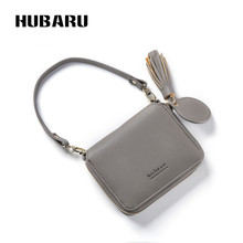 Купить с кэшбэком HUBARU Women Wallets Zipper Mirror Wallet Female Fashion PU Wristlet Clutch Slim Design Coin Purse Clamp For Money Standard