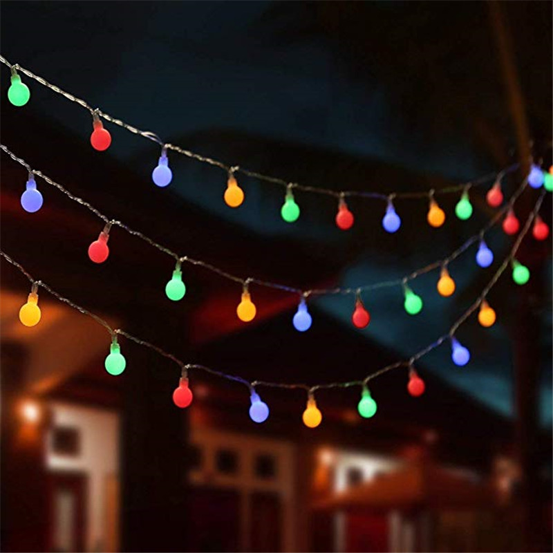 10M 100 Ball Multicolor Christmas LED String Lights 110V 220V IP44 Outdoor Wedding Party Holiday Decoration Lights Luces