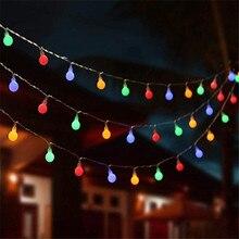 10M 100 Ball Multicolor Weihnachten LED String Lichter 110V 220V IP44 Outdoor Hochzeit Party Urlaub Dekoration Lichter luces