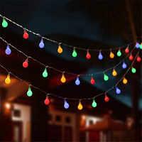 10M 100 bolas Multicolor Navidad LED cuerda Luces 110V 220V IP44 al aire libre boda fiesta vacaciones decoración Luces