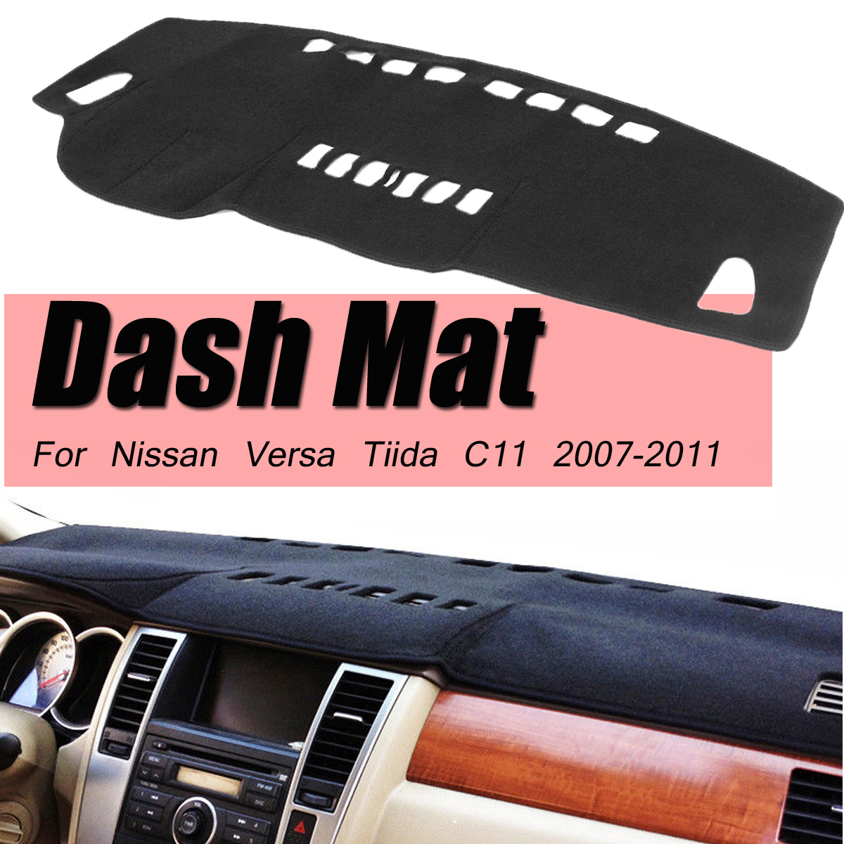 For Nissan Tiida Versa C11 Hatchback Rca Aux Wired Or Wireless Latio Wiring Diagram Dashboard Cover Pad 2007 2008 2009 2010 2011 Dashmat Anti