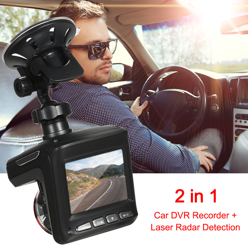 Car Dash Cam Recorder Radar Detector 2in1 HD 1080P Car DVR Detector Radar Detector Camera best 2 in 1 car radar detector speed car dvr hd dash camera recorder anti radar detector camera with g sensor car electronics