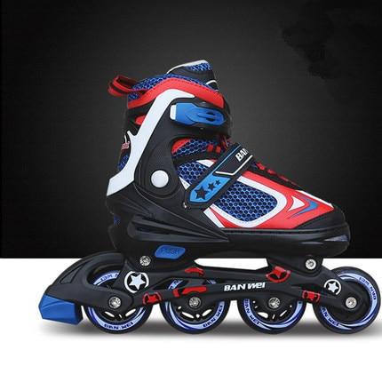 Luar anak skates ukuran disesuaikan inline sepatu roda skating sepatu  perempuan laki-laki sepatu roda 8921f8997a
