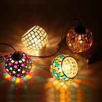 Barroco tiffany luzes pingente de vidro manchado corrente iluminação suspensa luminária para casa sala de estar sala de jantar lâmpadas e27 110 240 v Luzes de pendentes     -