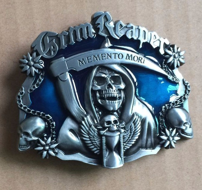 Pewter Belt Buckle novelty Grim Reaper  NEW