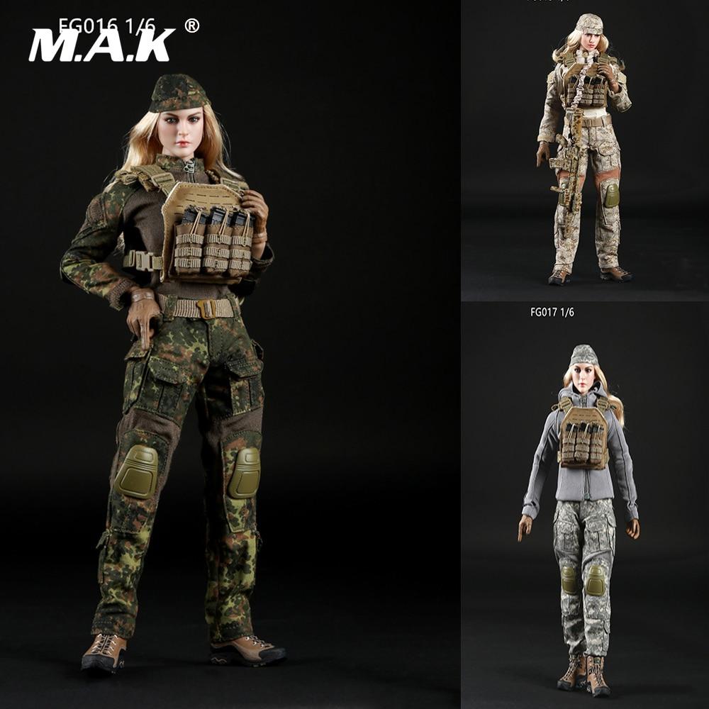 FG015/FG016/FG017 1/6 Scale Female Clothes Suit Set Tactical Shooter Camouflage Suit Costume Fit 12 Inches Phichen Action Figure