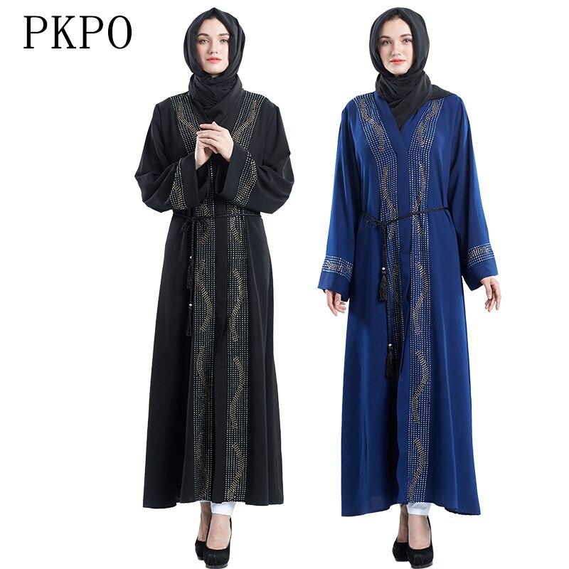 ca106c6fb91 eid muslim dress women arabic abaya islamic dress kaftan ramadan robe  caftan dubai prayer clothes malaysia long dress elegant