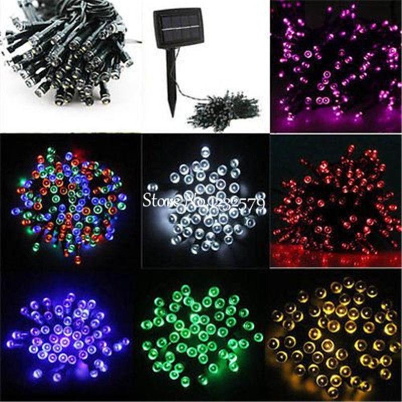 50//100//200 LED Solar Fairy Lights String Waterproof Garden Wedding Party Xmas