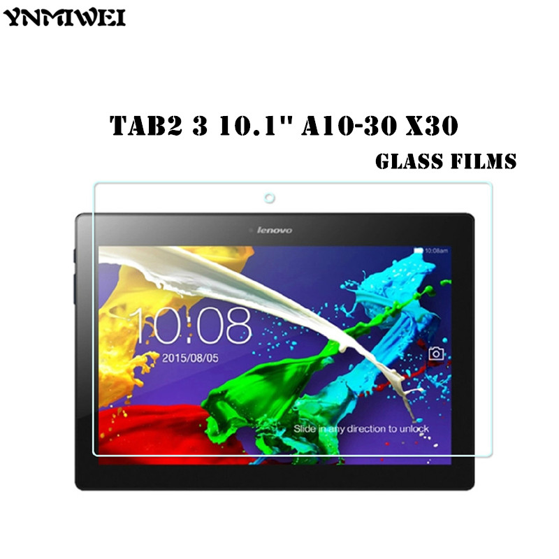 High Clear Tab2 A10-30 Tempered Glass Protect Films For Lenovo TAB 2 A10-70 X30 X30F X30M Glass Screen Protectors Tab3 10.1 X70f