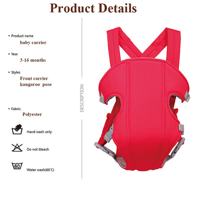 Baby Safety Carrier  Breathable Front Facing  Baby Sling Adjustable  Position Lap Strap Soft  mummy carrier for baby