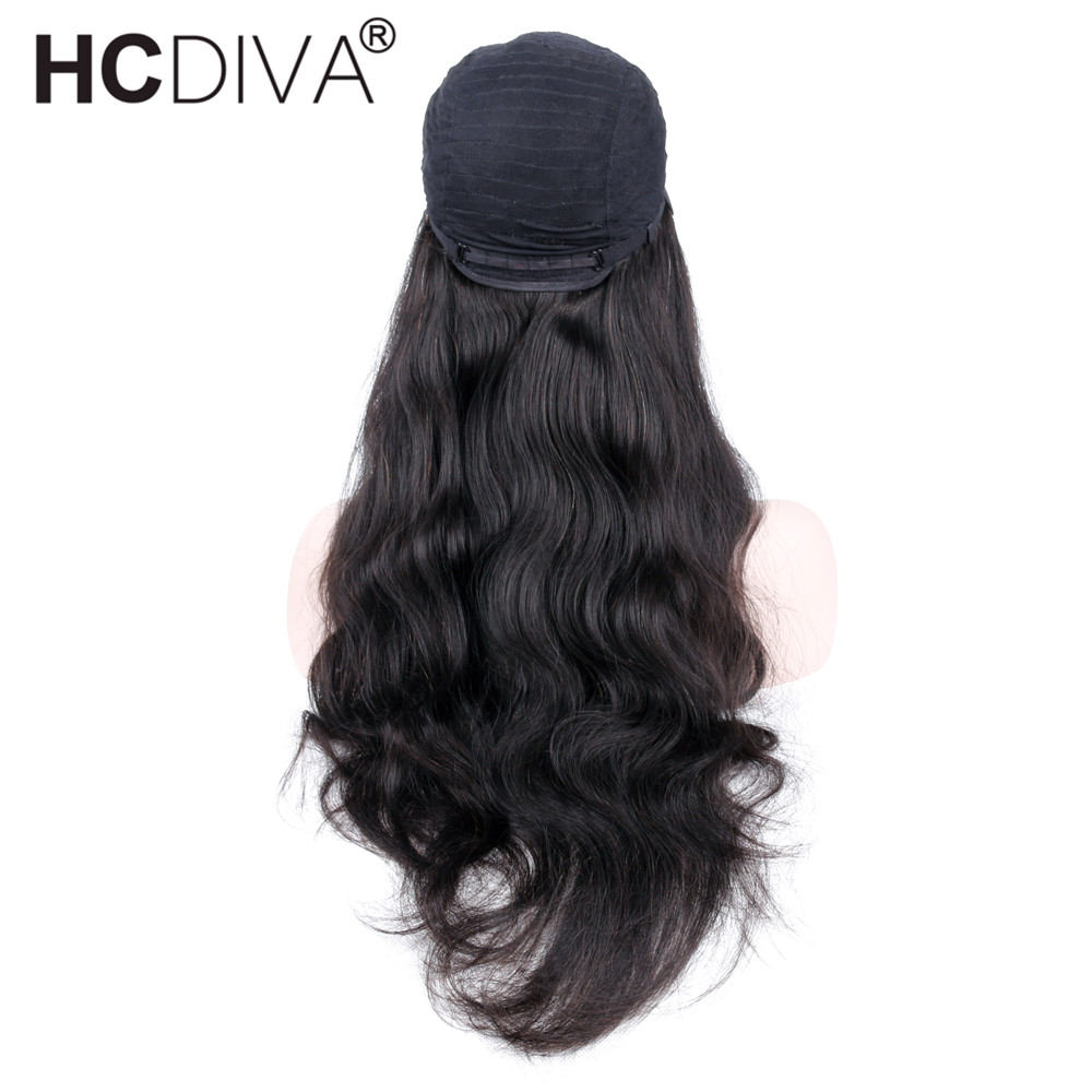 Lace Front Human Hair Wigs For Women Pre Plucked Body Wave Lace Wigs With Baby Hair Natural Hairline Peruvian Hair Remy HCDIVA