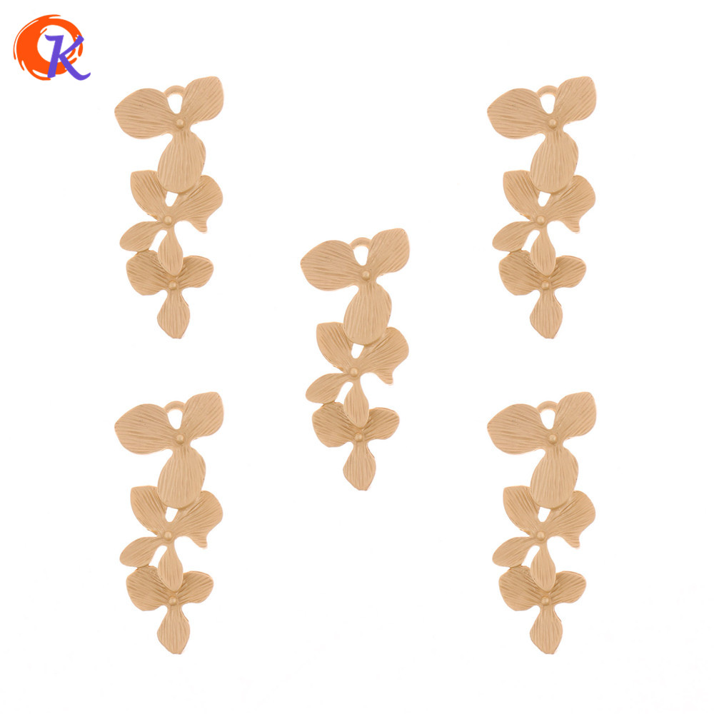 Cordial Design 50Pcs/Lot 16*38MM Jewelry Accessories/Earring Connectors/Matte Gold/Flower Shape/DIY/Hand Made/Earring Findings