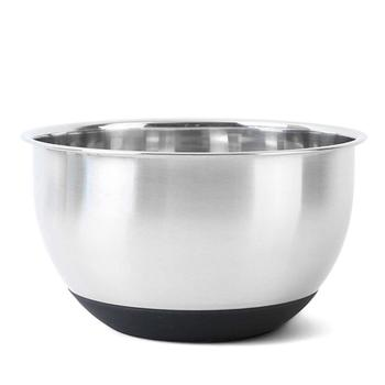 Stainless Steel Mixing Bowl With Ergonomic Non Slip Silicone Base Of Professional Kitchenware