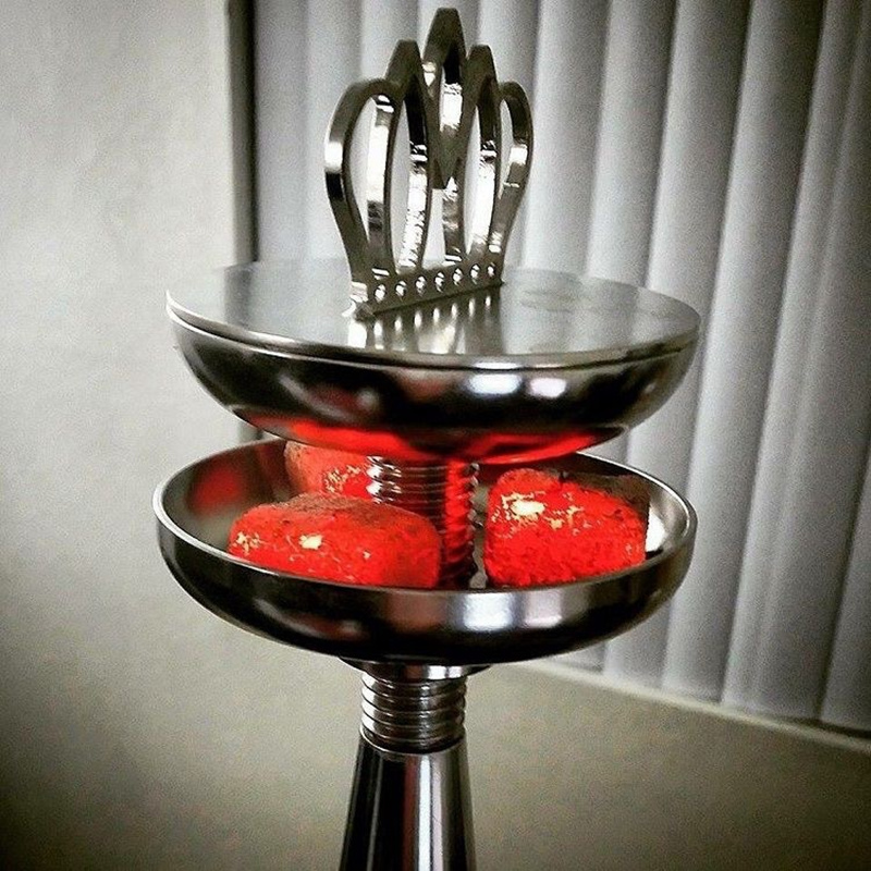 Luxury Shisha Hookah Crown Head Bowl Charcoal Holder Burner Water Smoking Chicha Narguile Waterpijp For Hookhas Accessories