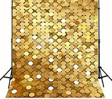 Tecido de vinil de Alta qualidade Computador impresso contexto da Fotografia de casamento Fundos backdrop pontos do brilho do ouro