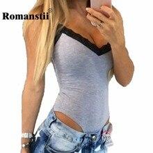 Romanstii Для тела костюм Летняя Сексуальная рукавов Спагетти ремень Кружево лоскутное глубокий v-образным вырезом Для женщин Для тела Femme костюм Тонкий стрейч жилет Топ