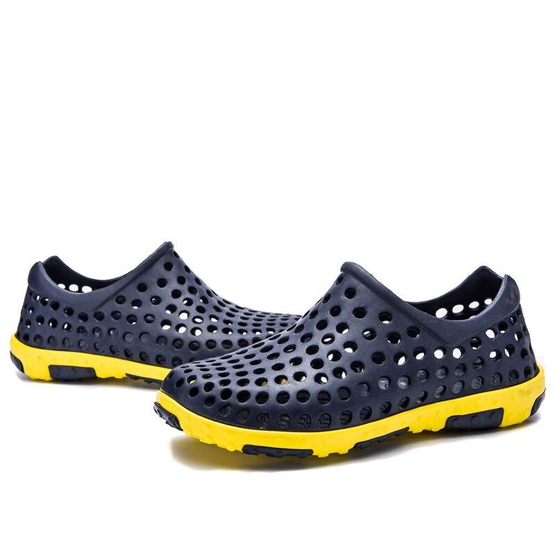 Hoyo Zapatos Verano Agua Casual Laisumk royal white gray Playa Blue Sandalias De Los slip Brown Transpirable Anti Hombres Huecas Hombre t6zwzqd