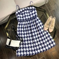2018 new High Quality fashion Dress Runway Dresses Summer Womens Brand Luxury Dress Women's Clothing A07197