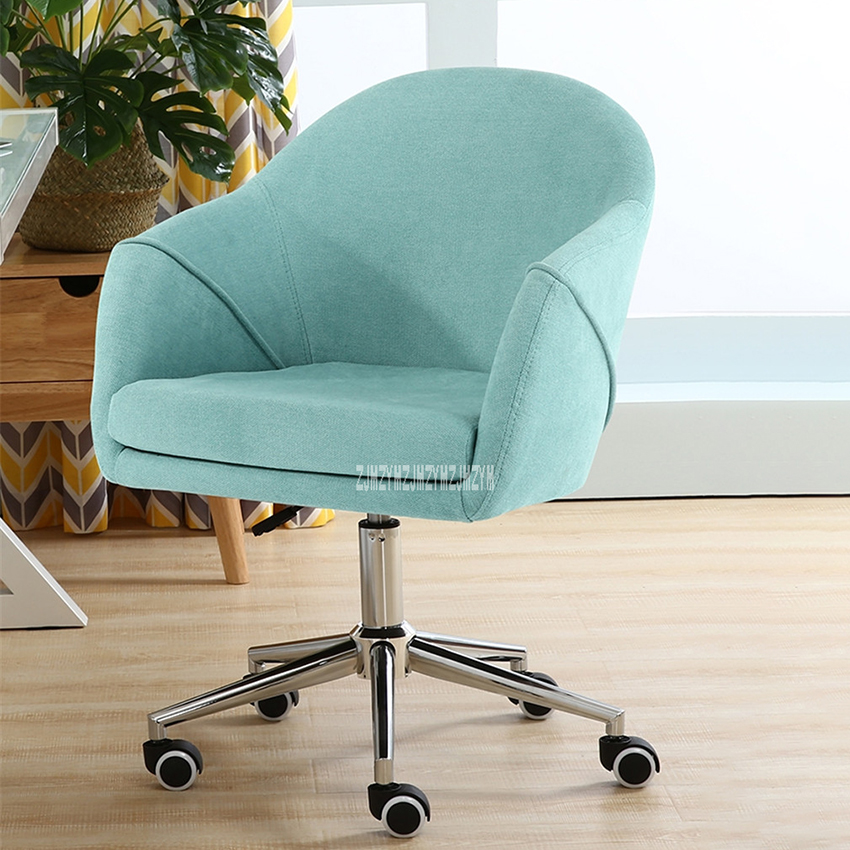 8035 Office Chair Short Flannelette Lifting Chair High Spring Back Protogenesis Sponge Computer Chair Household Rotation Chair