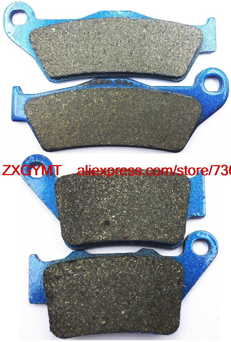 Motorcycle Semi Metallic Brake Pads Set fit KTM EXC300 EXC 300 Enduro 1999 - 2003