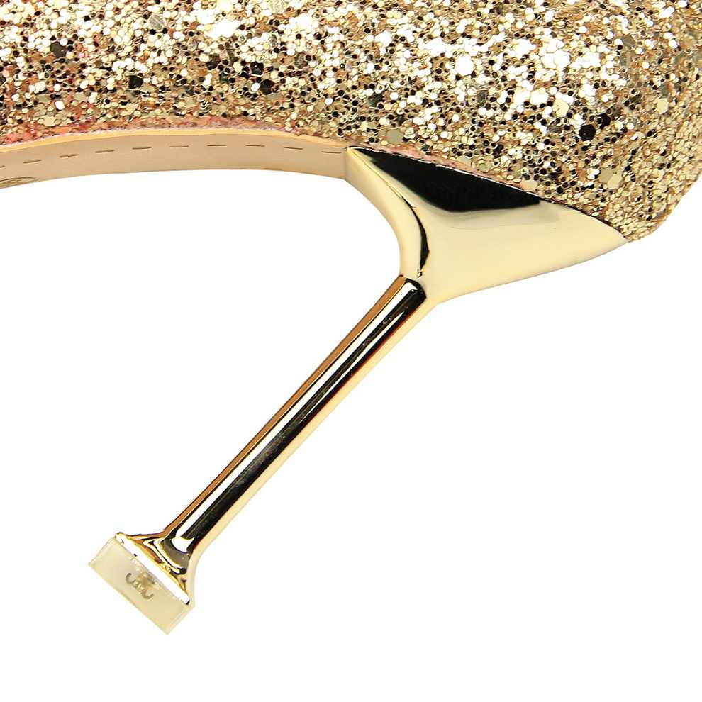 c99f1b3e8e Glitter Sexy High Heels For Women Cheap Prices Rose Gold Pumps Shimmering  Golden Glitter Shoes Pull On Pointed Toe Heels Pumps