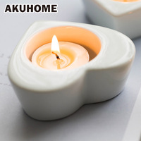 Heart Ceraminc Candle Holder Candlestick Wedding Valentine S Day Gift For Girlfriend Decoration