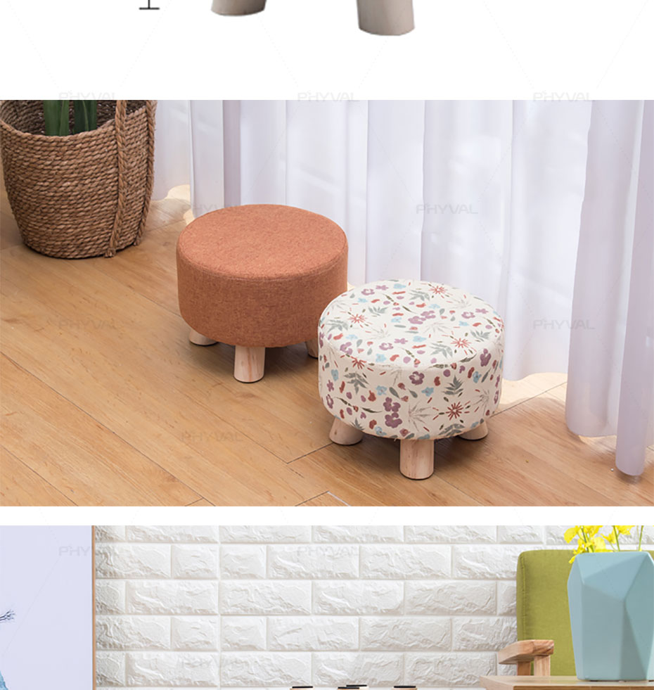 Amazing Modern Luxury Upholstered Footstool Nordic Round Pouffe Pdpeps Interior Chair Design Pdpepsorg